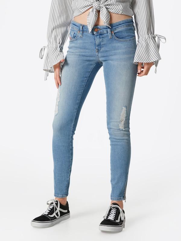 DIESEL Jeans 'Skinzee-Low-Zip' 084UZ 084UZ 084UZ in hellblau  Neu in diesem Quartal 9119aa
