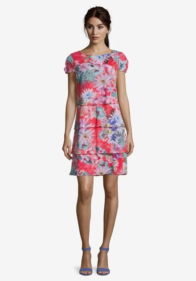 Betty Barclay Stufenkleid mit Flügelärmeln in dunkelblau / pink, Modelansicht