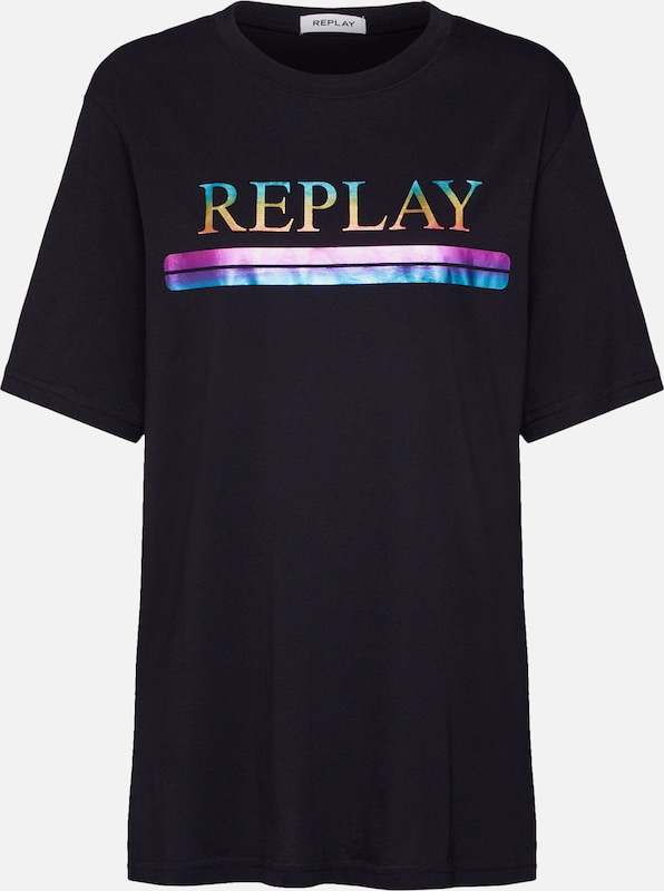 REPLAY Shirt in schwarz, Produktansicht