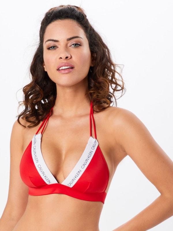 En Bikini Klein De Swimwear Rouge Calvin OrangéBlanc Hauts E2eH9IDbWY