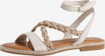 TAMARIS Sandale in beige / weiß, Produktansicht