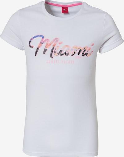 s.Oliver T-Shirt in pink / weiß: Frontalansicht