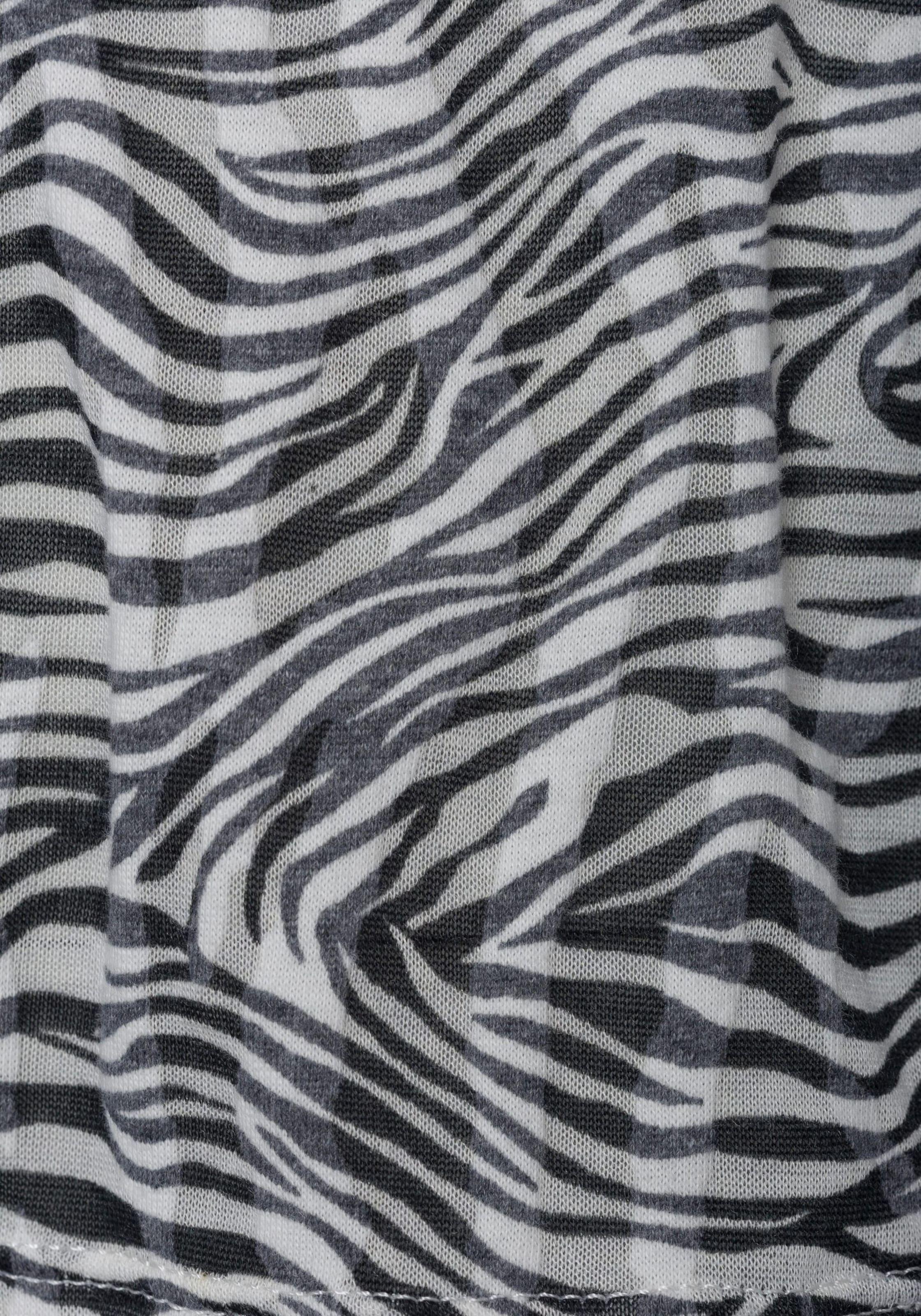 LASCANA Póló fekete / fehér színben
