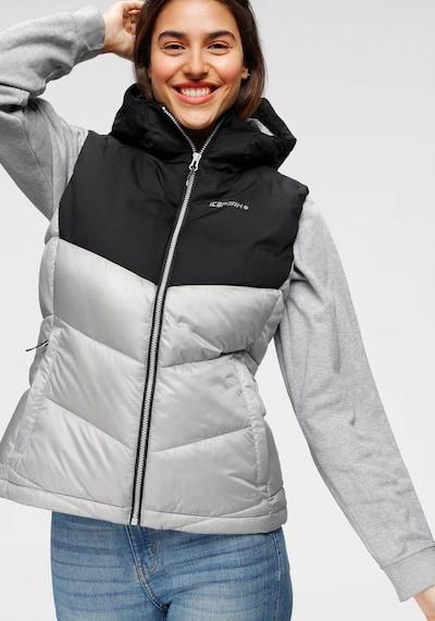 ICEPEAK Steppweste 'BAY' in schwarz, Modelansicht