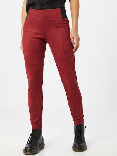 VERO MODA Leggings 'CAVA' in bordeaux / schwarz, Modelansicht