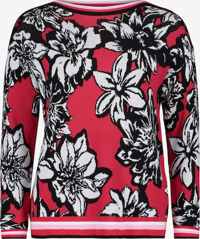 Betty Barclay Feinstrickpullover mit Jacquard in rot / schwarz, Produktansicht