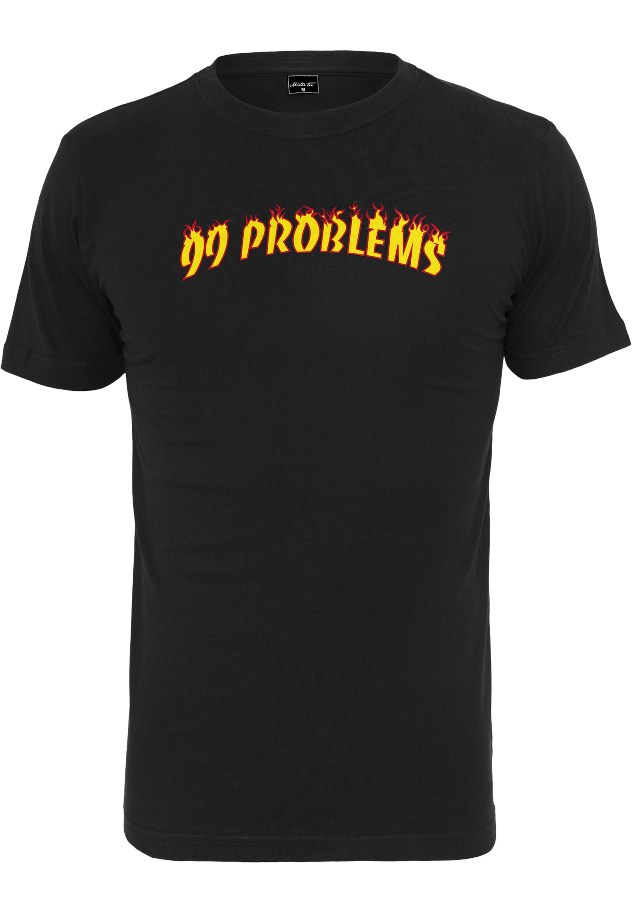 shirt Tee Problems T Mister '99 GelbOrange Flames' In Schwarz WEIDH2e9Y