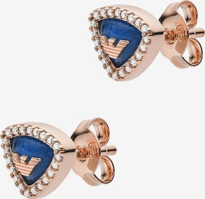 Emporio Armani Ohrschmuck in blau / rosegold, Produktansicht