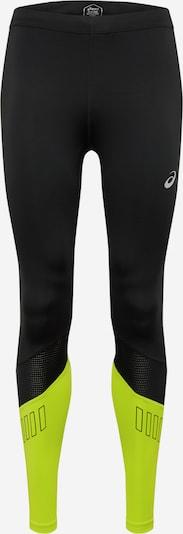 ASICS Pantalon de sport 'Lite-Show' en citron vert / noir, Vue avec produit