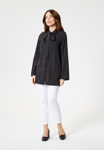 Usha Blouse in de kleur Zwart, Productweergave