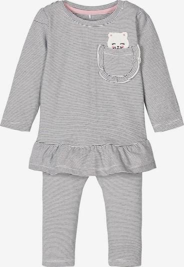 NAME IT Schlafanzug in schwarz / weiß: Frontalansicht