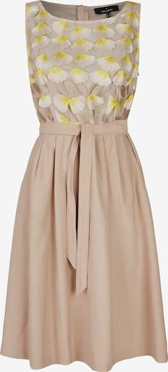 DANIEL HECHTER Elegantes Kleid mit floraler Spitze in beige / gelb, Produktansicht
