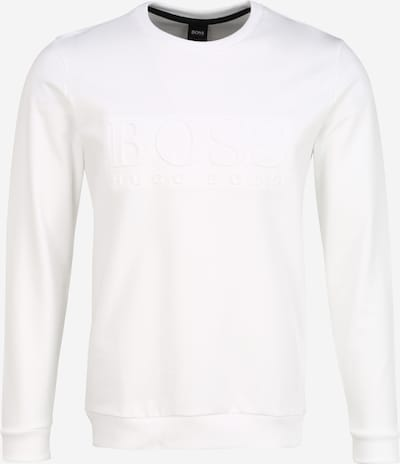 BOSS Sweat-shirt en blanc, Vue avec produit