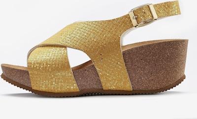 LASCANA Sandale in goldgelb, Produktansicht
