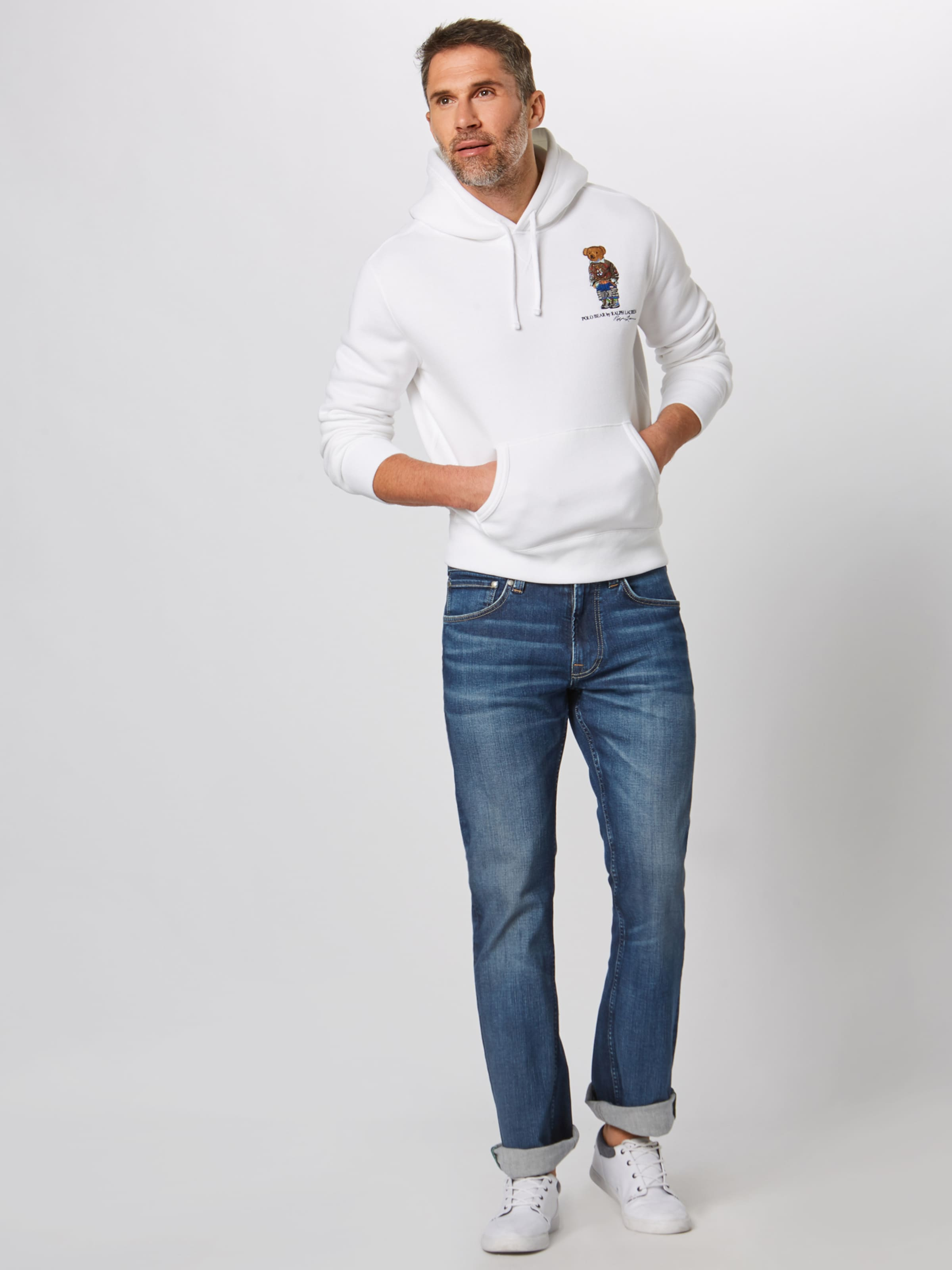 Ralph shirt Polo Lauren Sweat En Blanc b76fgy
