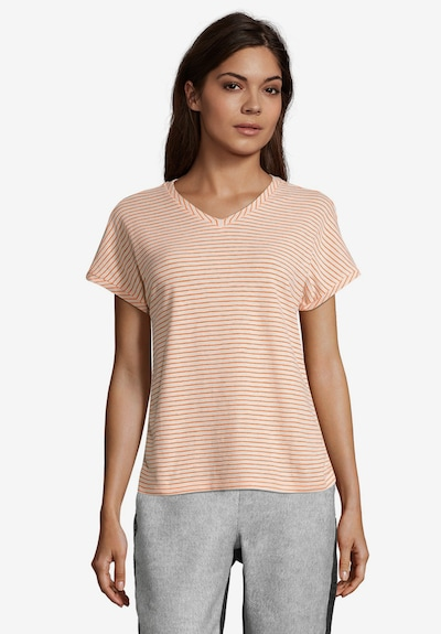 Cartoon Casual-Shirt mit Placement in apricot: Frontalansicht
