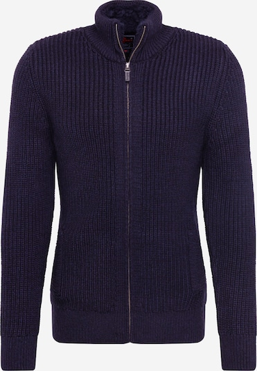 Superdry Gebreid vest 'DOWNHILL ZIP THROUGH CARDIGAN' in de kleur Navy, Productweergave