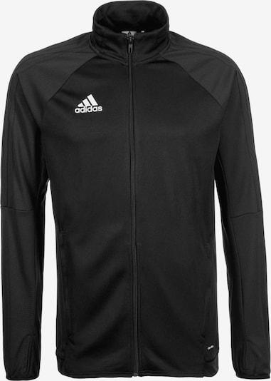 ADIDAS PERFORMANCE Trainingsjacke 'Tiro 17' in schwarz / weiß, Produktansicht