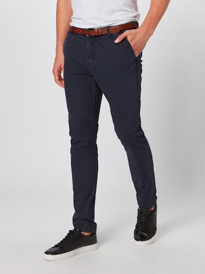 Pantaloni eleganți 'Nelson' INDICODE JEANS pe navy, Vizualizare model