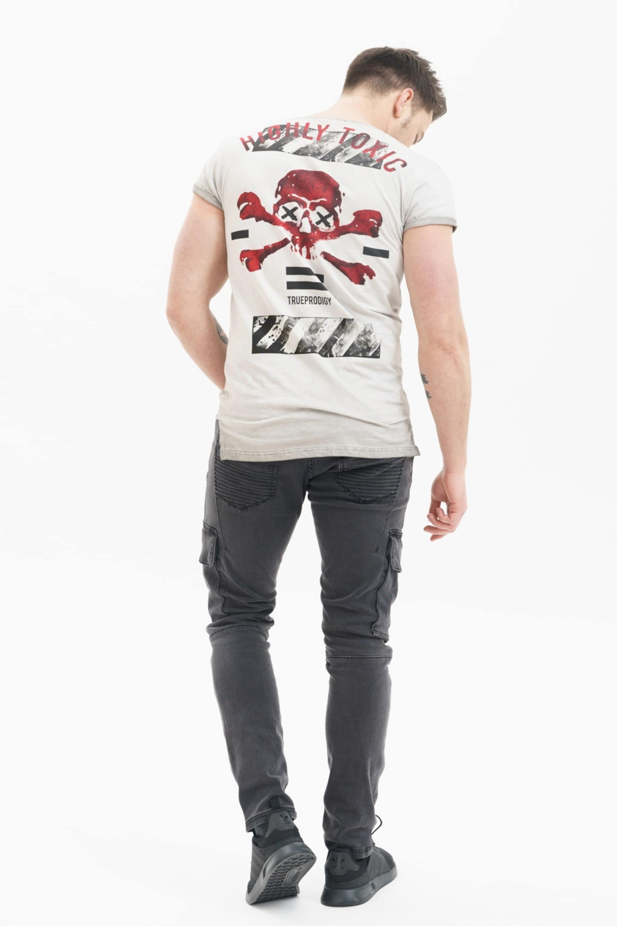 Trueprodigy T shirt In Schwarz HellgrauRot mN8nw0