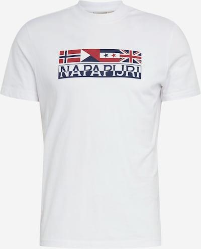 NAPAPIJRI T-Shirt 'SIDHI' en bleu foncé / rouge foncé / blanc, Vue avec produit