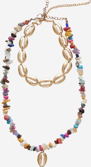 EDITED Set nakita 'Visby' | zlata / mešane barve barva, Prikaz izdelka