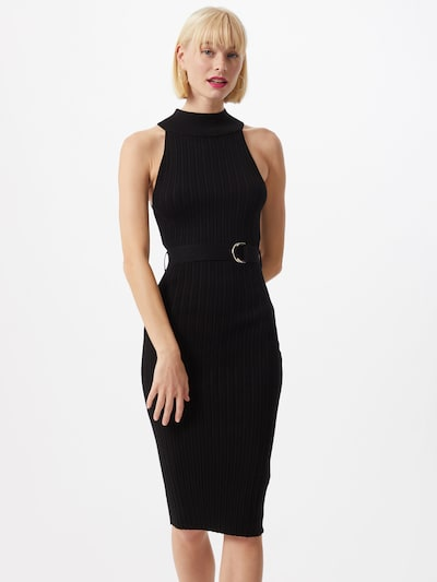 4th & Reckless Šaty 'Selene' - černá: Pohled zepředu