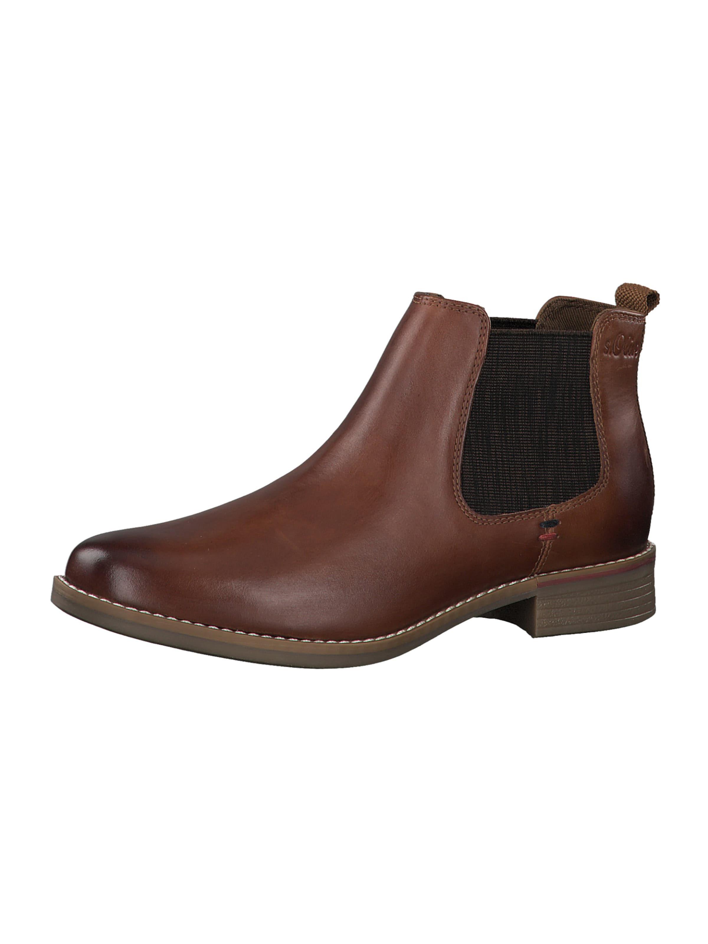 s.Oliver Chelsea boots i konjak