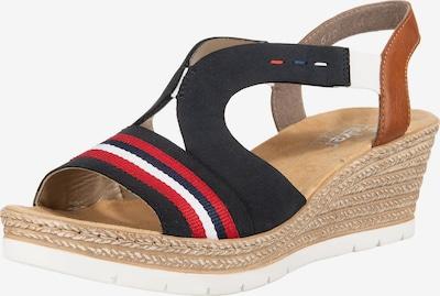 RIEKER Sandale in nachtblau / braun / hellrot / weiß, Produktansicht