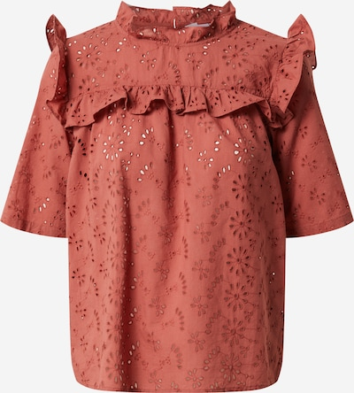 Noisy may Blouse in de kleur Oranjerood, Productweergave