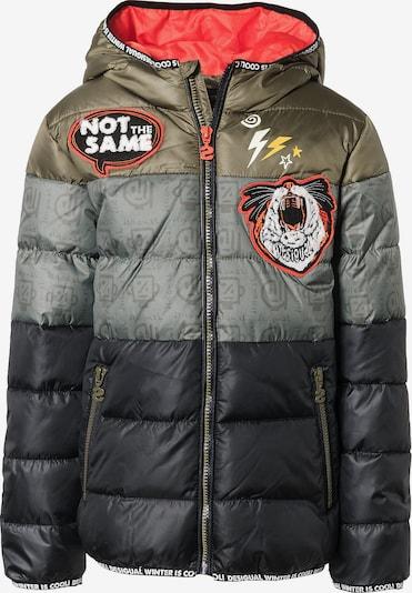 Desigual Jacke in nachtblau / silbergrau / khaki, Produktansicht