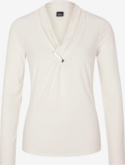 s.Oliver BLACK LABEL Shirt in weiß: Frontalansicht