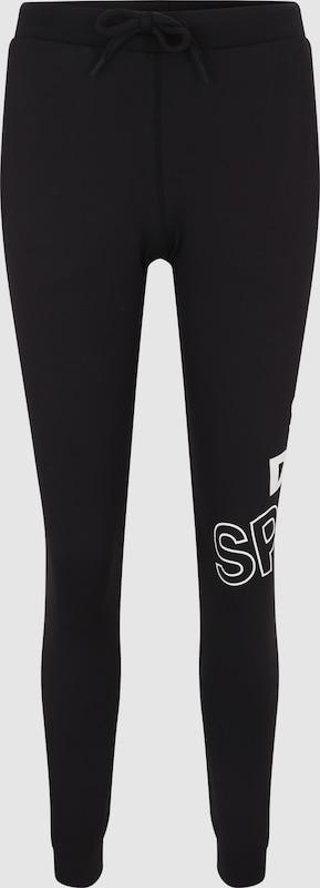 Superdry Joggpants 'CORE GRAPHIC' in schwarz   weiß  Große Preissenkung