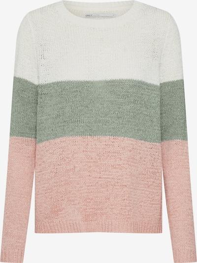 ONLY Pulover 'GEENA' | zelena / roza / bela barva, Prikaz izdelka
