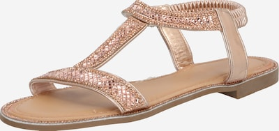 Sandale ZABAIONE pe auriu - roz: Privire frontală