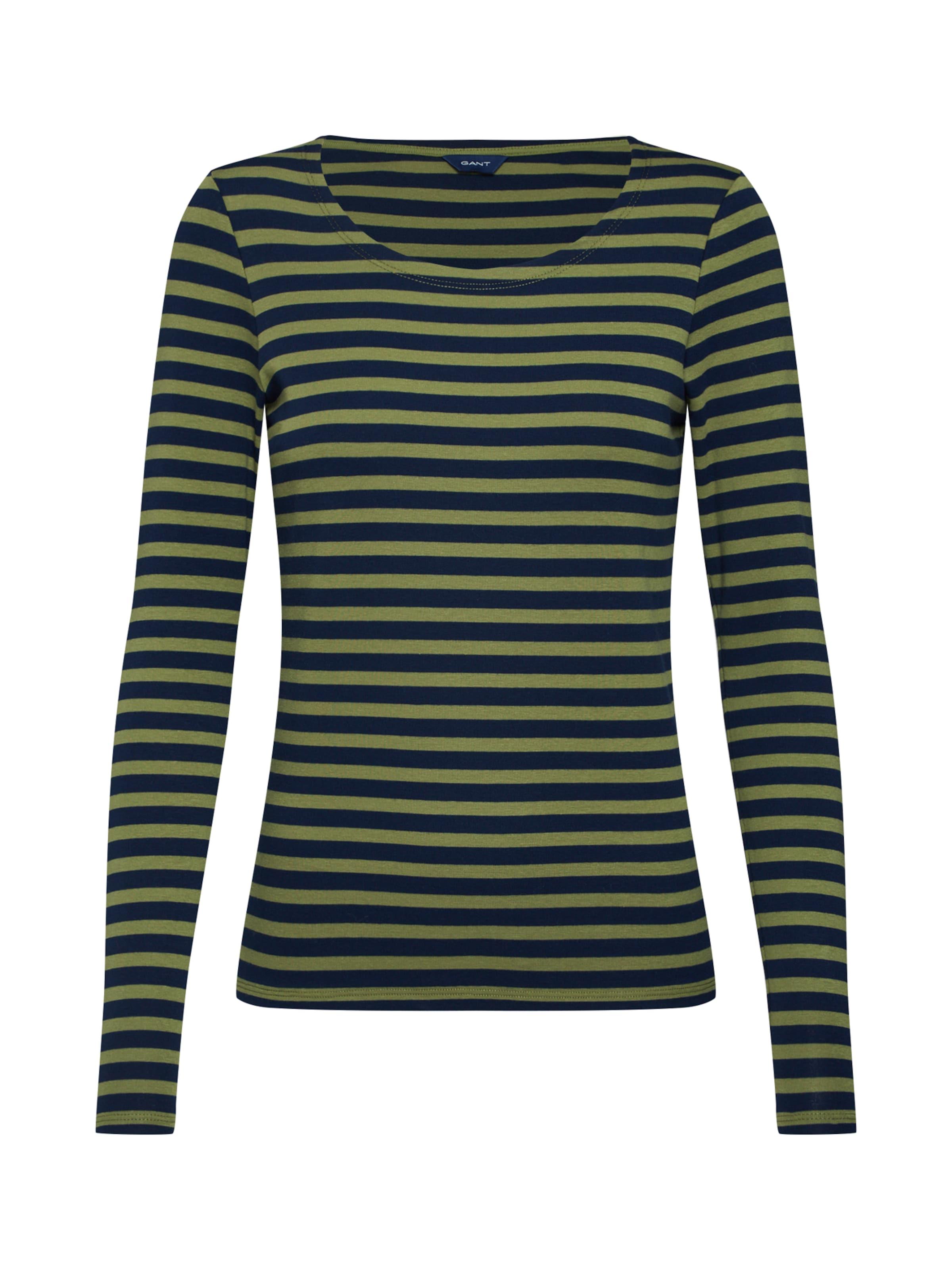 Shirt T In Rib Gant Ls '1x1 CremeGrün shirt' 3ALScRq54j