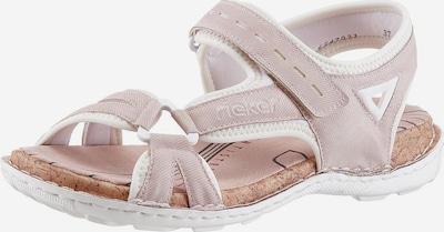 RIEKER Riemchensandale in rosa / offwhite: Frontalansicht