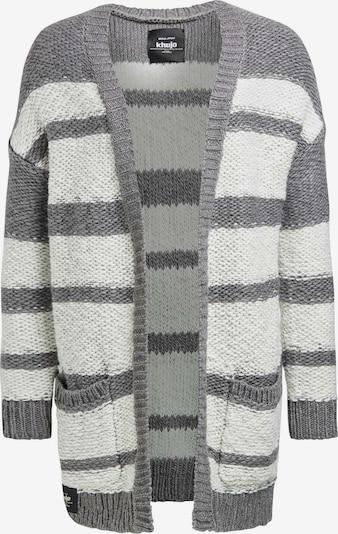 khujo Strickjacke 'Nydora' in grau / weiß, Produktansicht