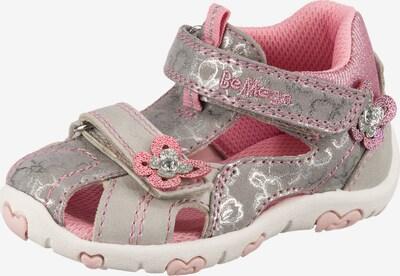 Be Mega Sandalen in grau / rosa, Produktansicht