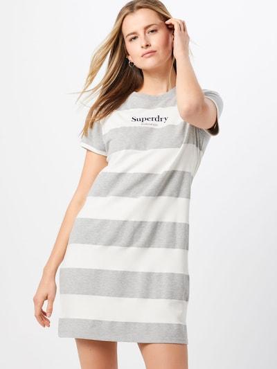 Superdry Kleid 'DARCY' in creme / grau, Modelansicht