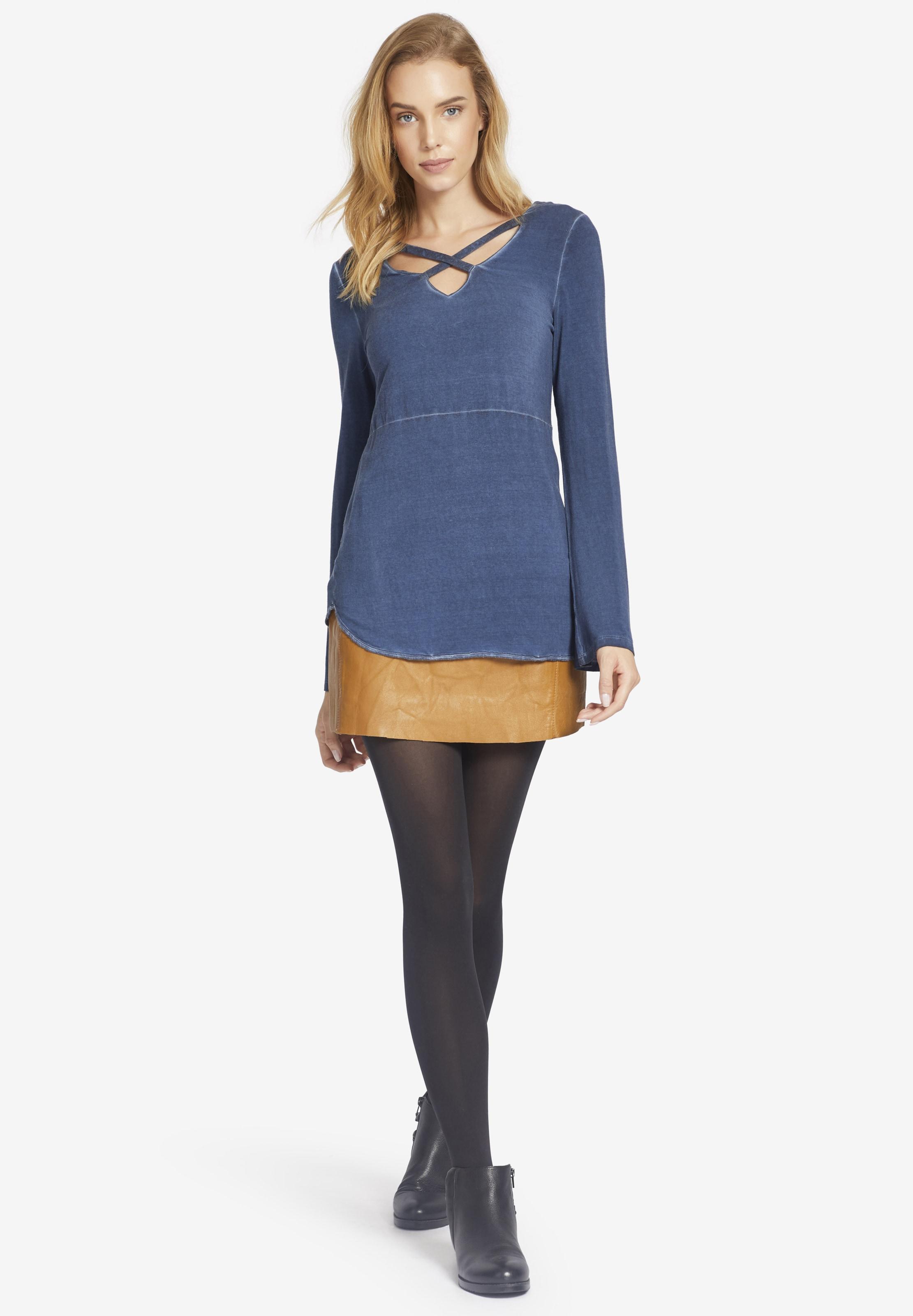 Bleu gris T En shirt 'wayda' Khujo sroxBtdQCh