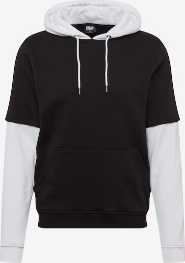 Urban Classics Sweatshirts Double Layer Hoody in schwarz / weiß 8TRaZGtL
