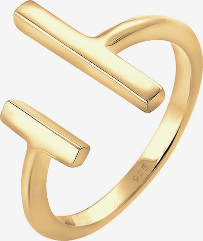 ELLI Ring 'Geo' in gold, Produktansicht