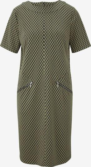 Suknelė iš heine , spalva - alyvuogių spalva / juoda, Prekių apžvalga