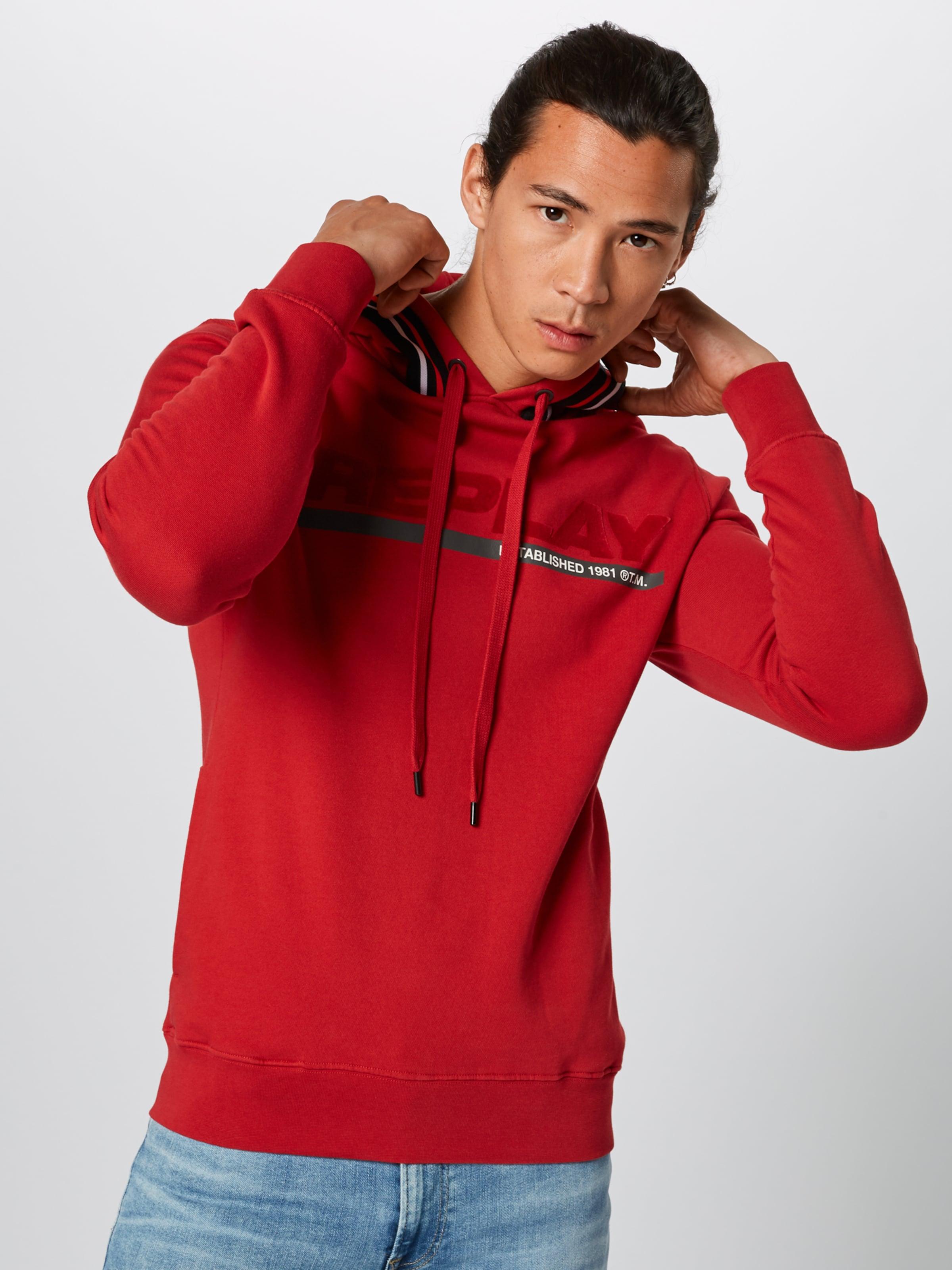 In In Replay Sweatshirt Replay Rot Sweatshirt Rot Replay Sweatshirt Replay In Sweatshirt Rot In 3jL5ARq4