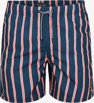 Shiwi Shorts de bain 'urban stripe' en bleu / rouge orangé, Vue avec produit