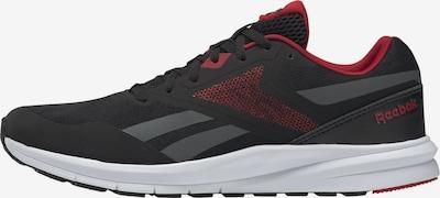 REEBOK Sportschuh in grau / rot / schwarz / weiß, Produktansicht
