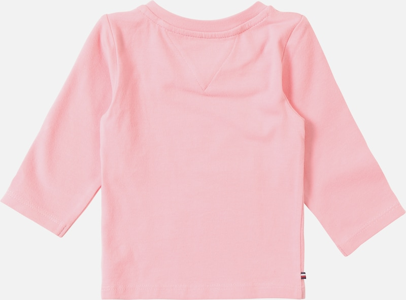 TOMMY HILFIGER Shirt 'BABY GIRL TOMMY TEE L/S' in pink: Rückansicht