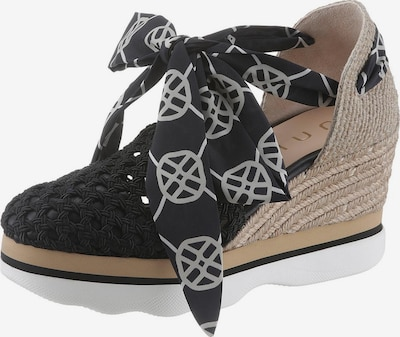 UNISA Sandalette 'Luengo' in schwarz / weiß, Produktansicht