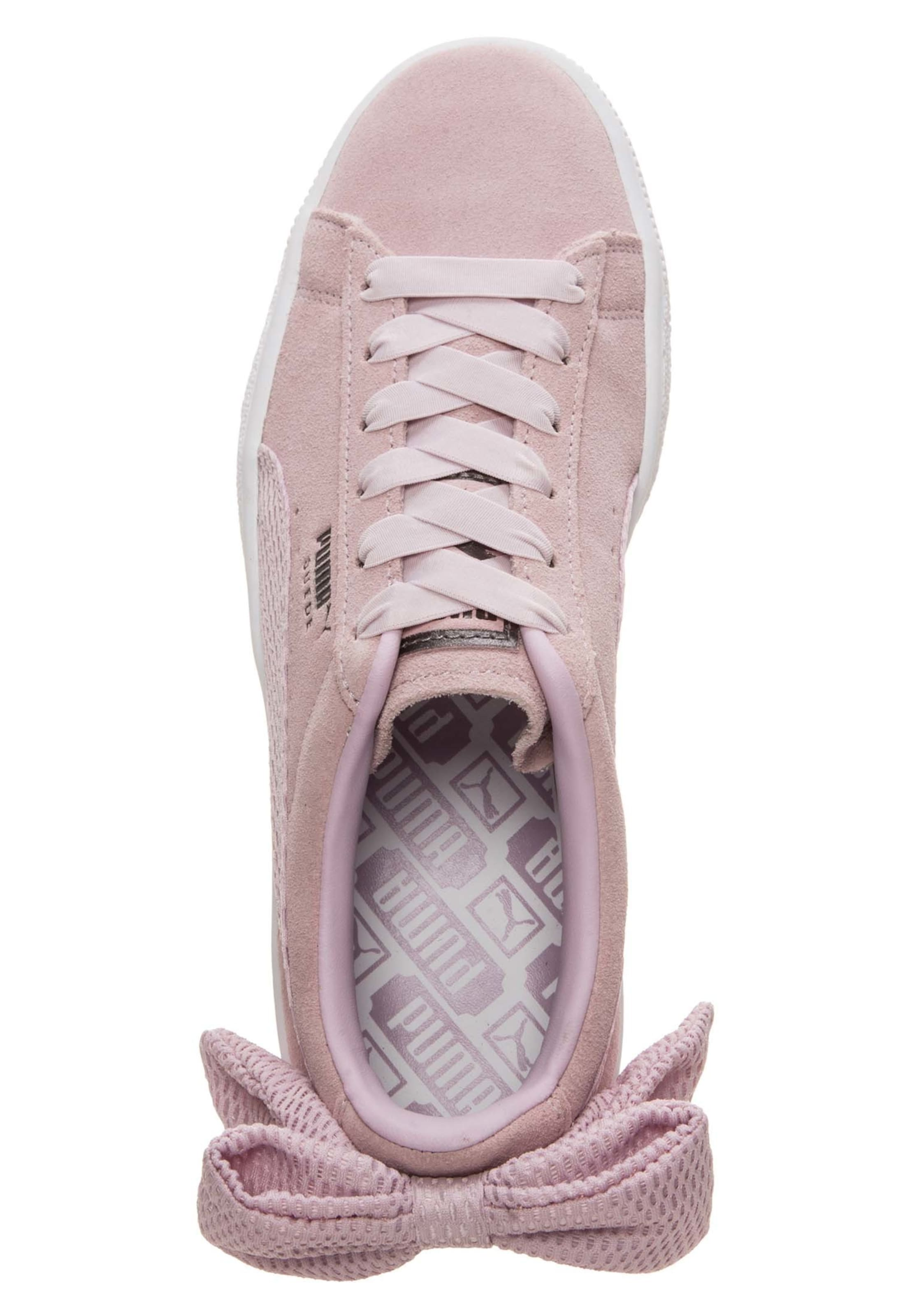 AncienneBlanc Puma 'suede Baskets Basses Rose Bow' En 4A5LRj